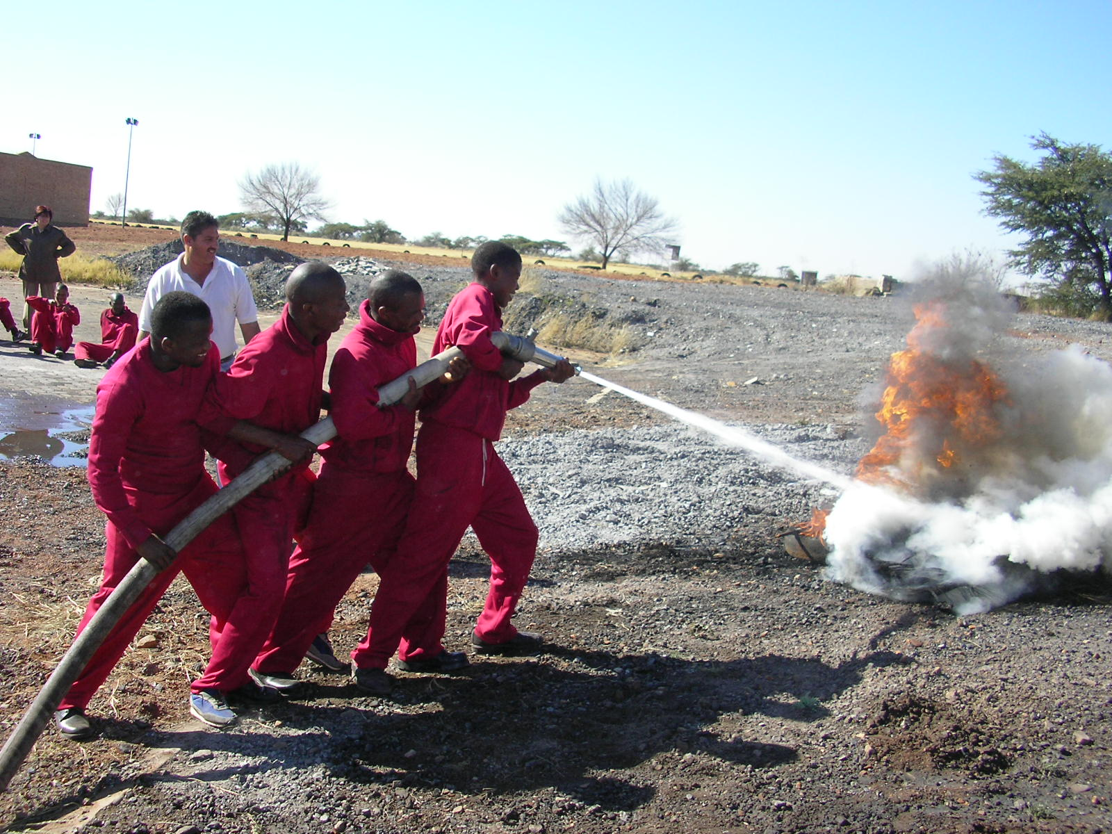 South Africa firefighters